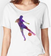 man soccer football player 02 Women's Relaxed Fit T-Shirt