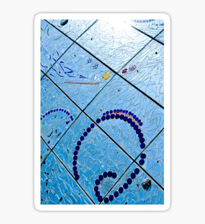 A Squiggle and Squares Sticker