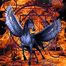 Hell`s Fire, Winged Horse by LoneAngel