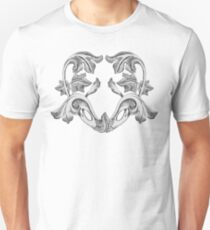 Black and White Heart Unisex T-Shirt