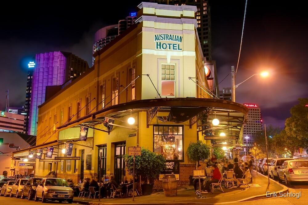 Australian Hotel, The Rocks, Sydney by Erik Schlogl