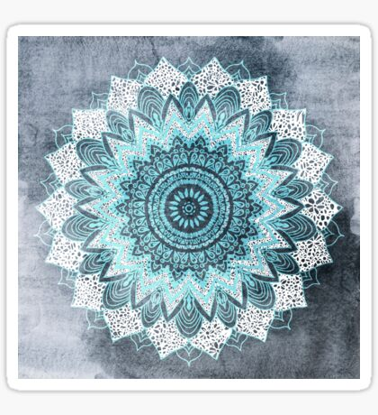 BOHOCHIC MANDALA IN BLUE Sticker