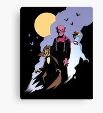 Mike Mignola style Count Chocula, Franken Berry, and Boo-Berry Canvas Print