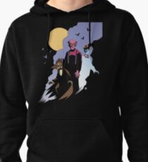 Mike Mignola style Count Chocula, Franken Berry, and Boo-Berry Pullover Hoodie