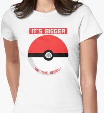 Pokemon - It's bigger on the inside.. Women's Fitted T-Shirt