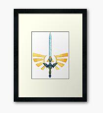 Master Sword - Triforce Of Courage Framed Print