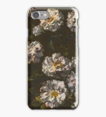 Attributed to Jean-Baptiste Monnoyer LILLE  LONDON A STUDY OF STRIPED WHITE GALLICA ROSES iPhone Case/Skin