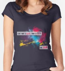 Carl Sagan Quote - I don't want to believe Women's Fitted Scoop T-Shirt