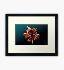 Shard Series 1 - Orange/Burgundy  Framed Print