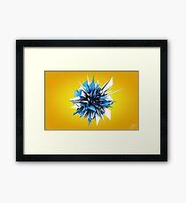 Shard Series 1 - Blue/White Framed Print