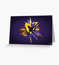 Shard Series 1 - Yellow/Purple Greeting Card