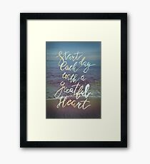 Inspirational lettering ocean theme Framed Print
