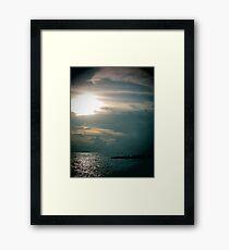 lomo sunset beach 1 Framed Print