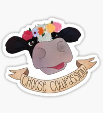 "Choose ""Cow""passion Sticker"