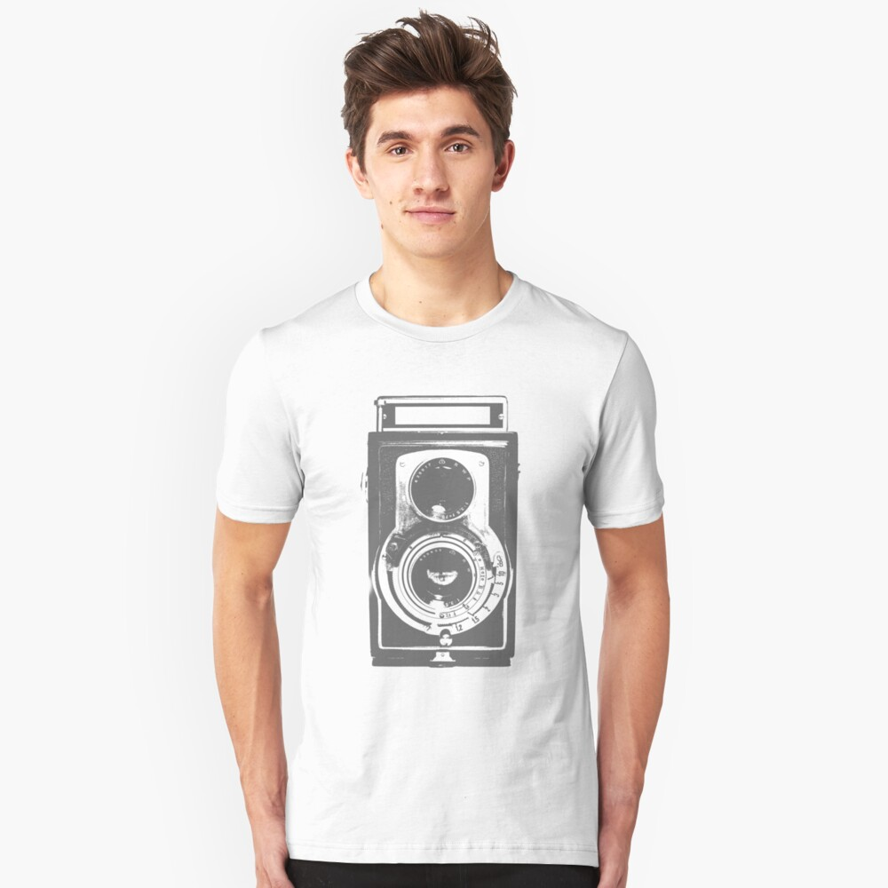 Retro-Kamera Slim Fit T-Shirt
