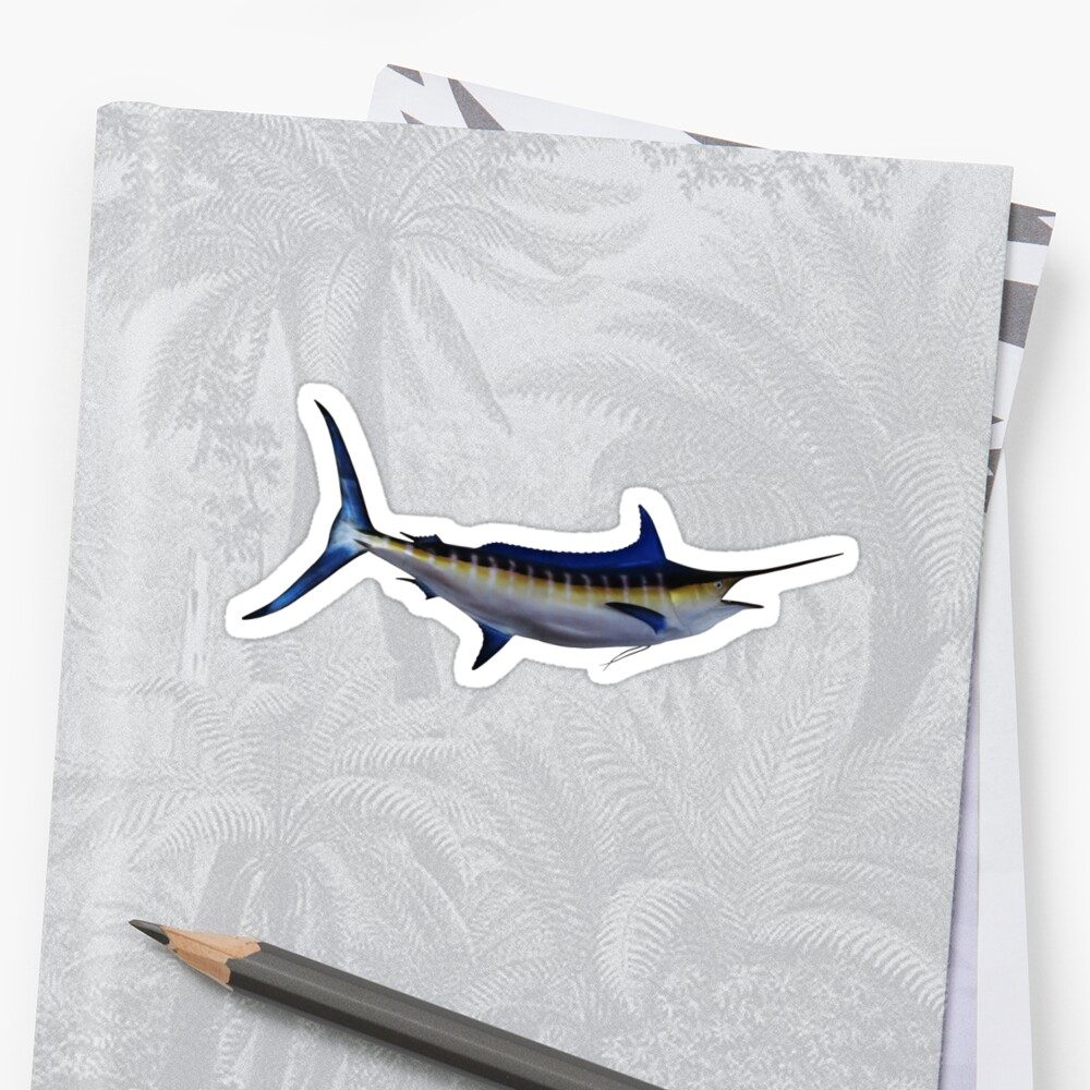 Blue Marlin Fish Stickers