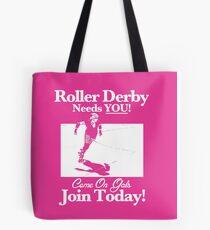 Roller Girl Recruitment Poster (Hot Pink) Tote Bag