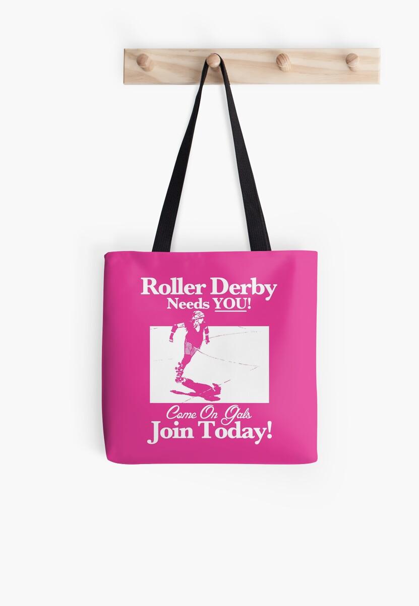 Roller Girl Recruitment Poster (Hot Pink) by John Perlock