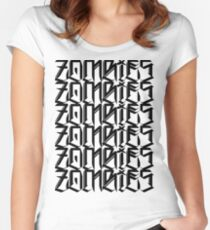 Zombies Zombies Zombies (White) Women's Fitted Scoop T-Shirt