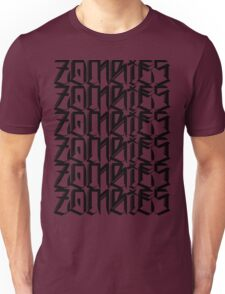 Zombies Zombies Zombies (White) Unisex T-Shirt