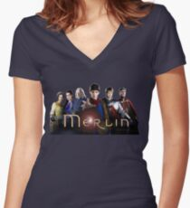 Merlin Women's Fitted V-Neck T-Shirt