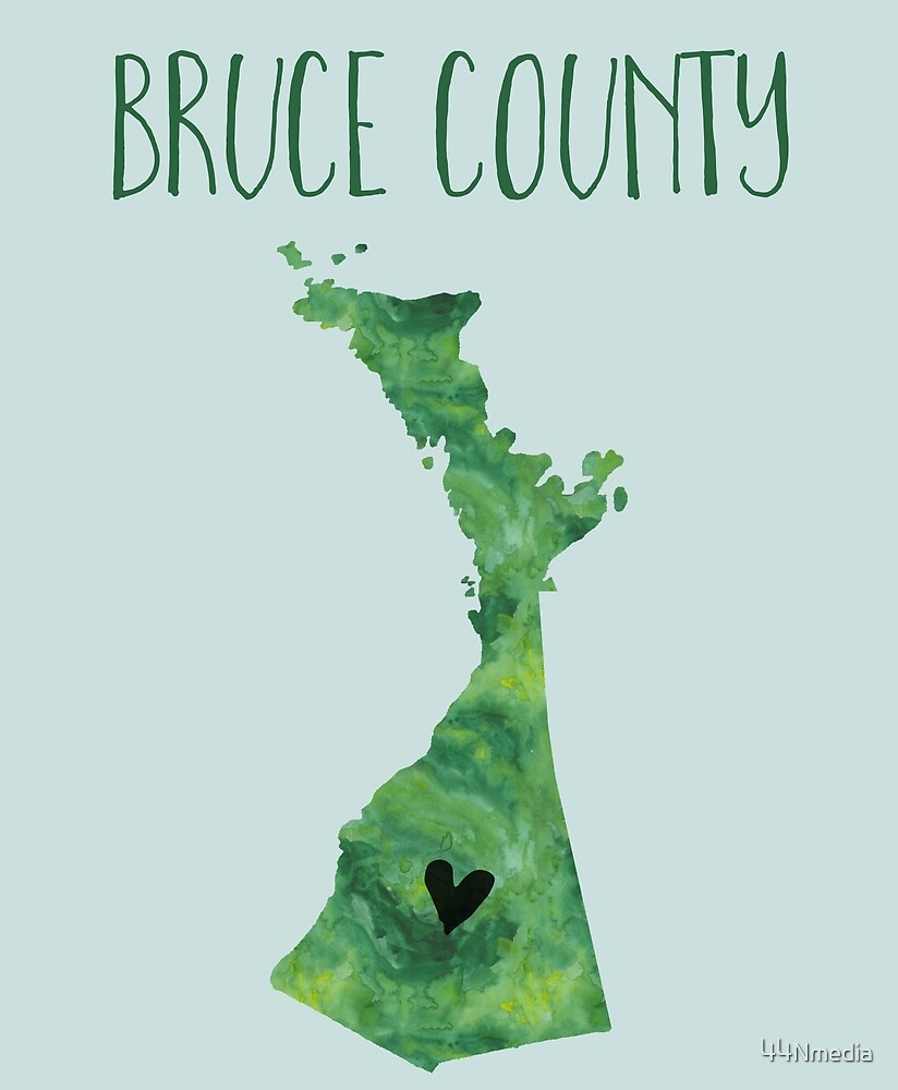 BRUCE COUNTY HEART MAP by 44Nmedia