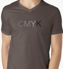 CMYK in B/W Mens V-Neck T-Shirt