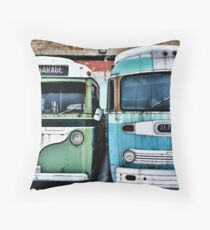 Old Buses 2 Throw Pillow