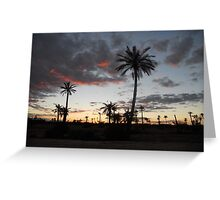 Moroccan Sunset Greeting Card