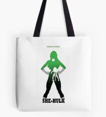 Sensational She-Hulk Silhouette Tote Bag