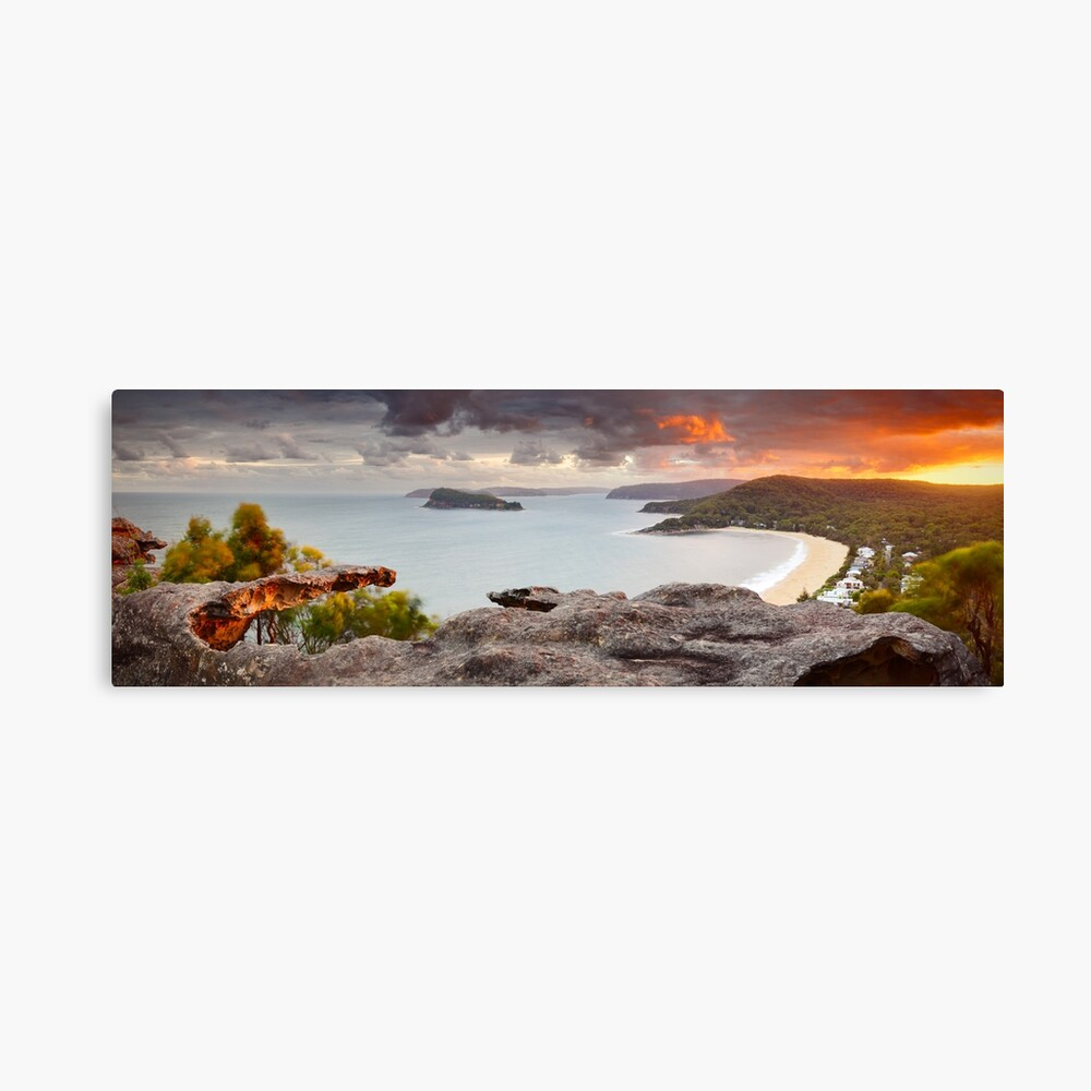 Pearl Beach from Mt Ettalong, New South Wales, Australia Canvas Print
