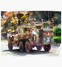 Army Truck in Parade Poster