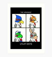 The Arwingz -Lylat Days- Art Print