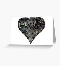 Steampunk Valentine Greeting Card