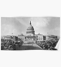 US Capitol Building Poster