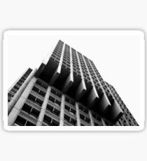 Black and White Crazy Building Sticker