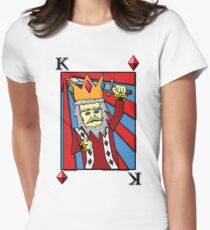 King Playing Card Women's Fitted T-Shirt