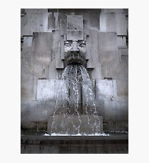 Milan Train Station Fountain Photographic Print