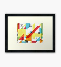 Package Pattern Framed Print