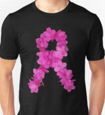 Azalea Flower Arrangement Photo Breast Cancer Awareness Ribbon T-Shirt