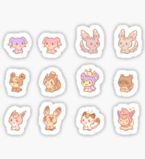 Normal type Pokedolls Sticker