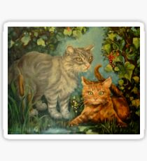 Cat Hideaway Sticker