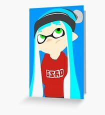 Splatoon - Inkling girl Greeting Card