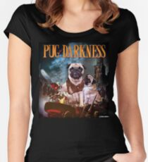 Pug of Darkness Women's Fitted Scoop T-Shirt