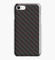 Carbon fibre - red wire reinforcing iPhone Case/Skin