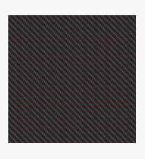 Carbon fibre - red wire reinforcing Photographic Print