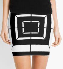 Square Bulls-eye  Mini Skirt