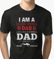 Scuba Diving Dad Tri-blend T-Shirt