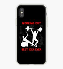 Working out the best idea ever iPhone Case