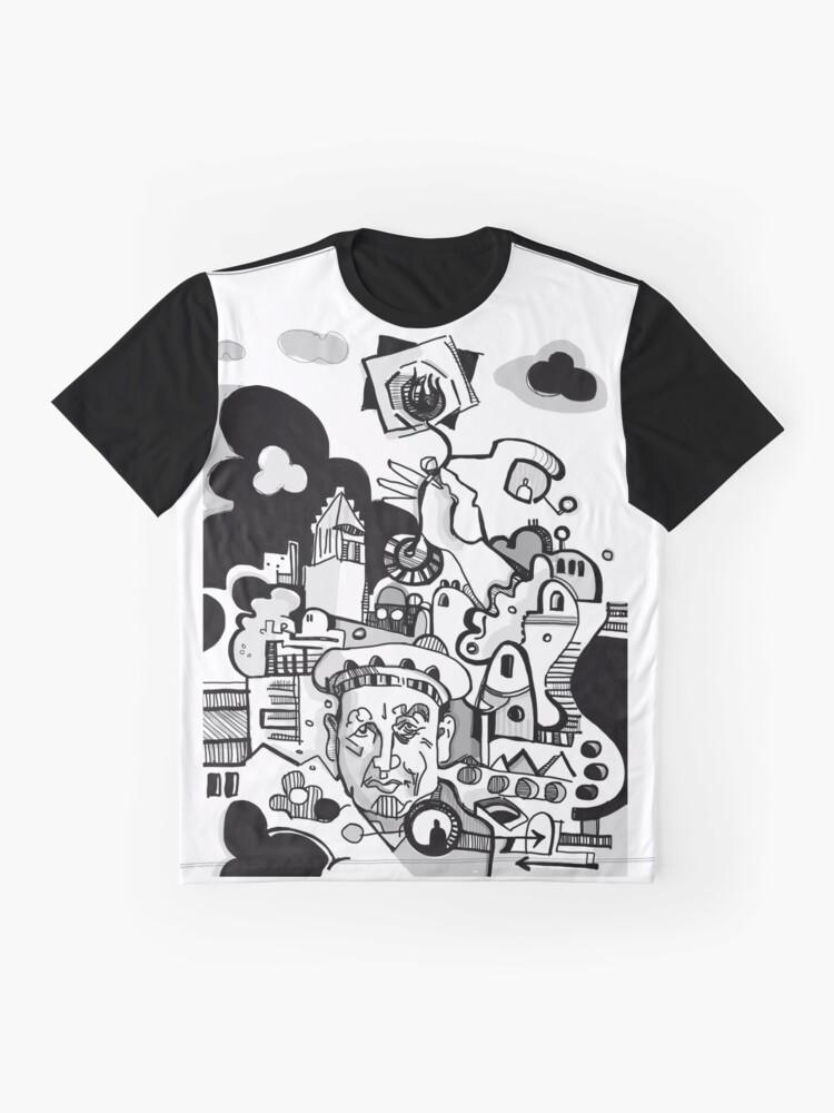 Alternate view of Bearded Park Charlotte Graphic T-Shirt